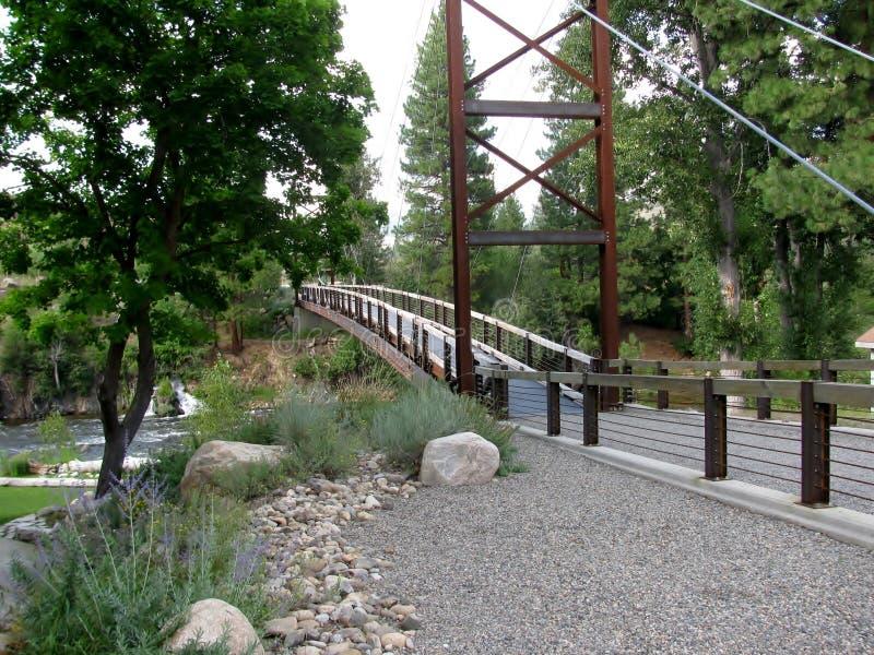 Pont de SA Teekh Wa, Winthrop, Washington image stock