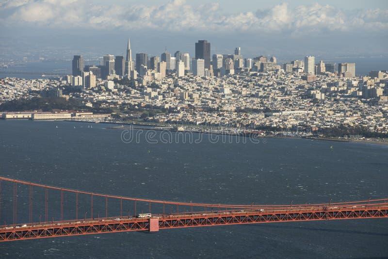 Pont de San Francisco et en porte d'or photos stock