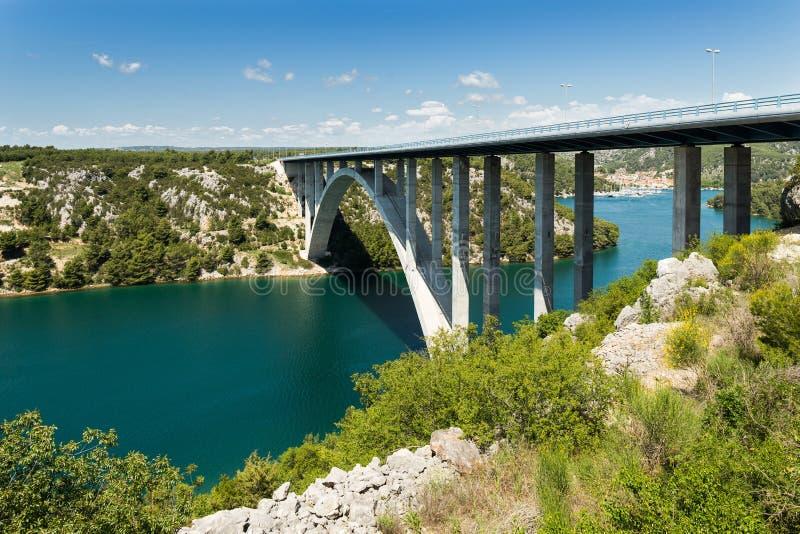 Pont de Sibenik en Croatie photo libre de droits
