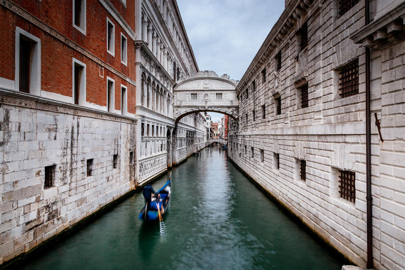 Pont de soupir, Venise, Italie images libres de droits