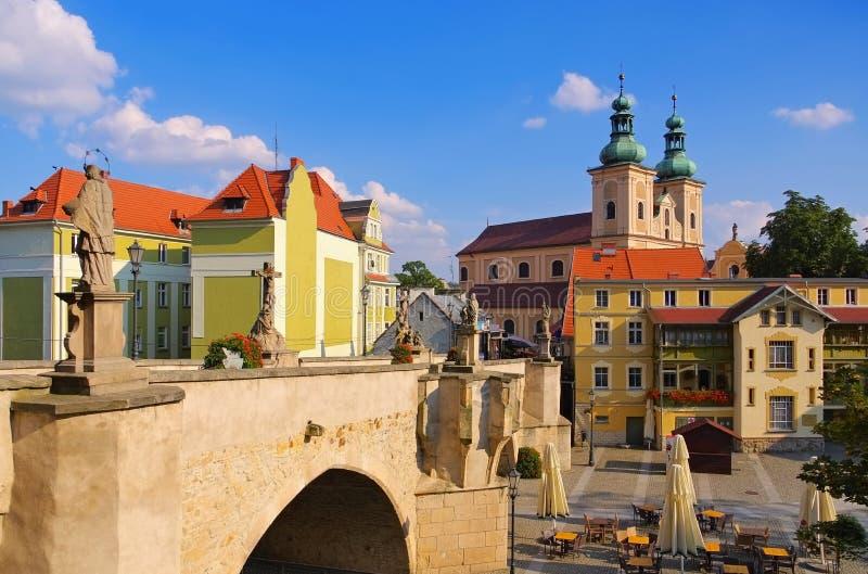 Pont de St Johns, Klodzko Glatz, Silésie, Pologne image stock