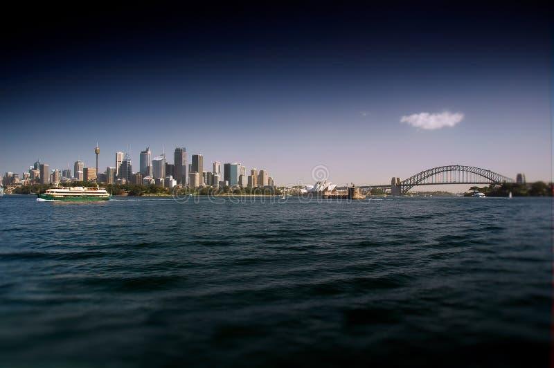Pont de Sydney Waterfront et de port images stock
