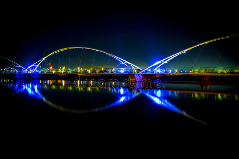Pont de Tempe Town Lake photo stock