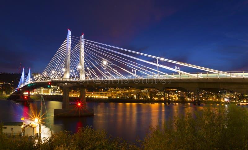 Pont de Tillicum à Portland, OU photographie stock libre de droits