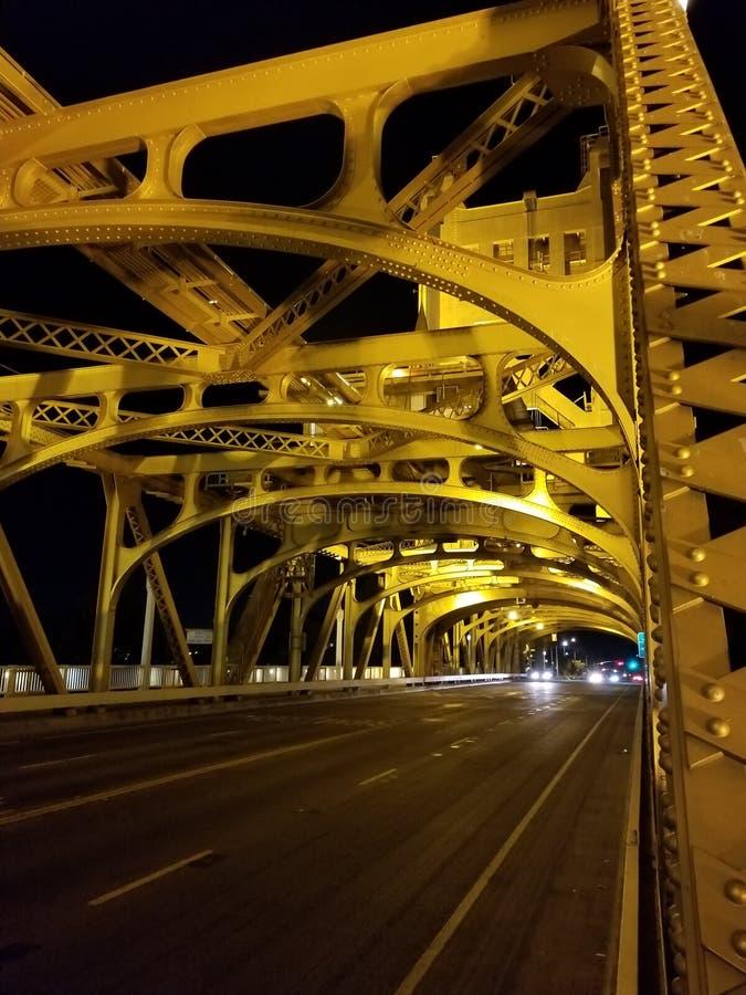 Pont de tour, Sacramento, CA, Etats-Unis images libres de droits