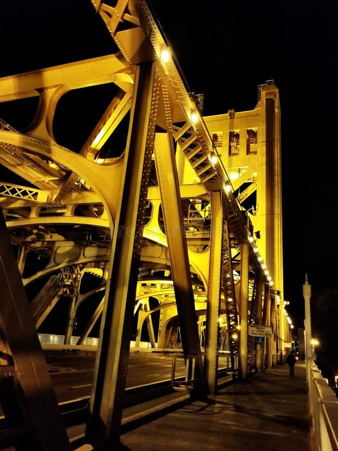 Pont de tour, Sacramento, CA, Etats-Unis images stock