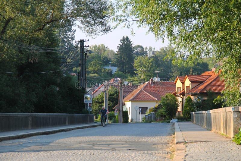 Pont de Veverska Bityska photographie stock libre de droits
