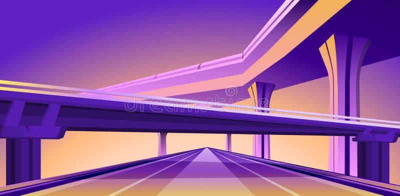 Pont de viaduc de passage supérieur illustration libre de droits