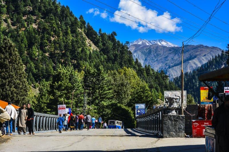 Pont de ville de Naran images stock