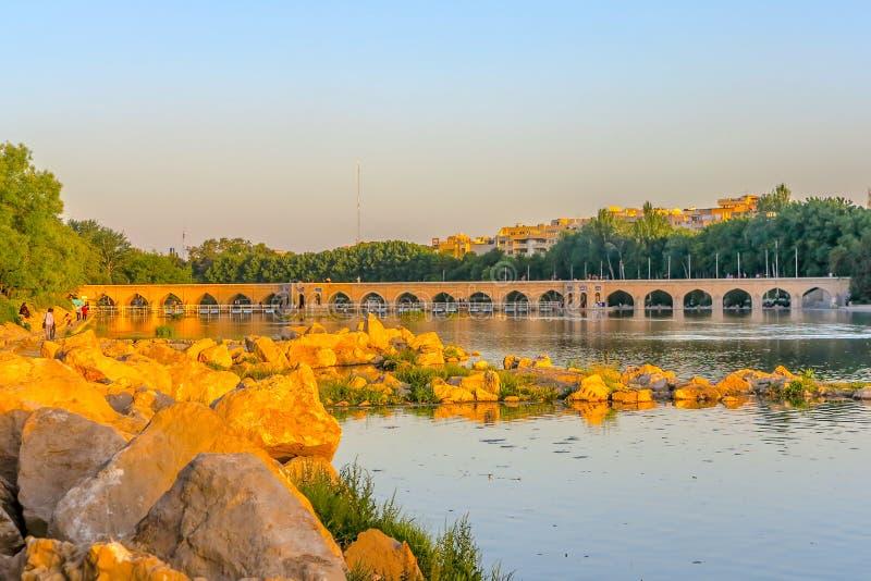 Pont 01 de voûtes d'Isphahan 33 photographie stock libre de droits