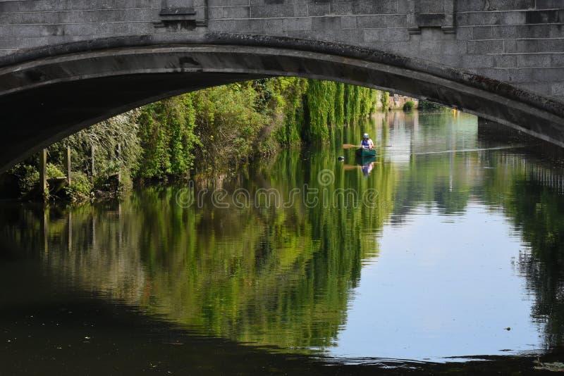 Pont de Whitefriars, rivière Wensum, Norwich, Angleterre image stock