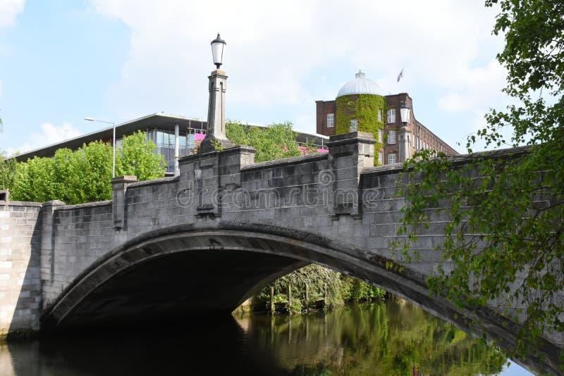 Pont de Whitefriars, rivière Wensum, Norwich, Angleterre photo libre de droits