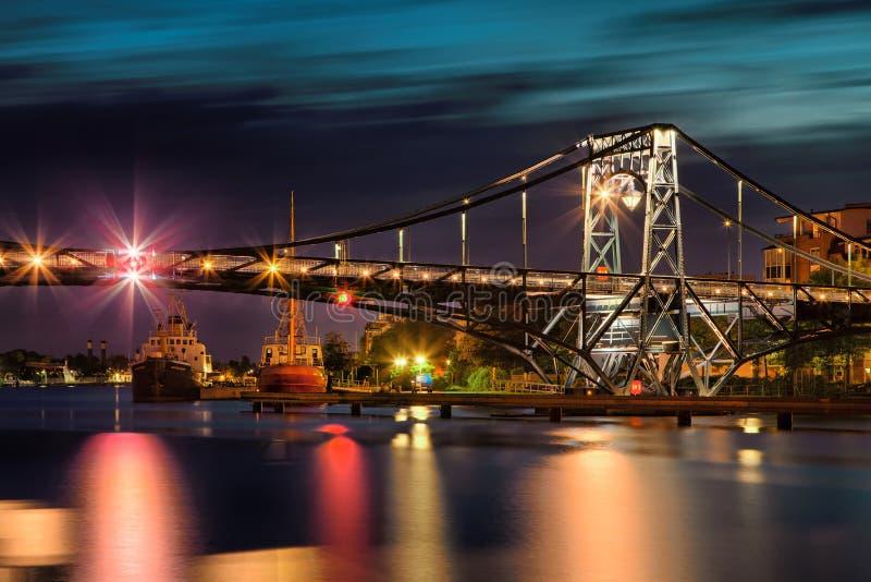 Pont de Wilhelmshaven Kaiser-Wilhelm photographie stock