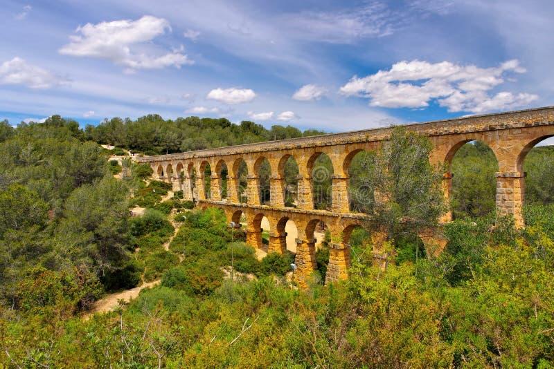 Pont Del Diable Rzymianin akwedukt w Tarragona fotografia stock