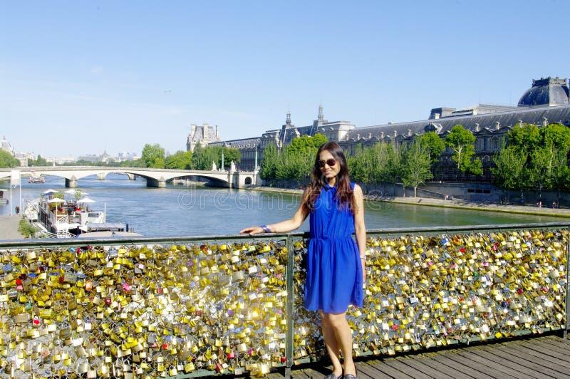 Pont des Arts стоковое изображение