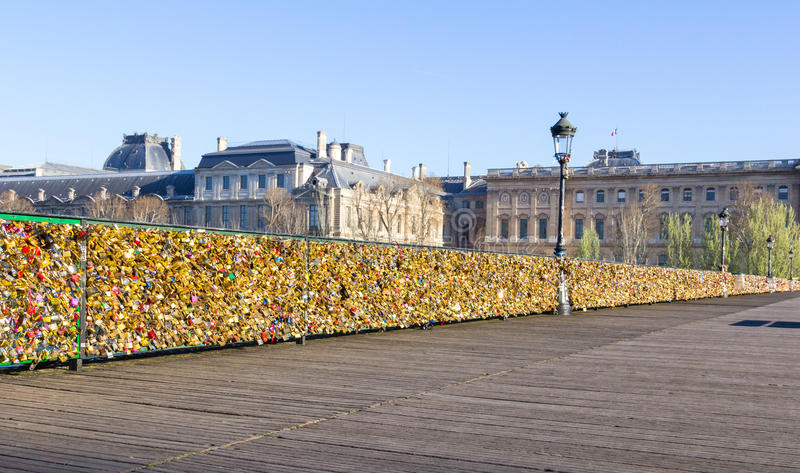 pont des arts bridge stock photo image of forever bridge. Black Bedroom Furniture Sets. Home Design Ideas