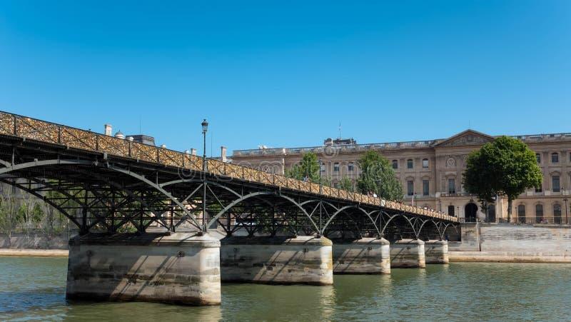Pont des Arts, Parijs royalty-vrije stock afbeelding