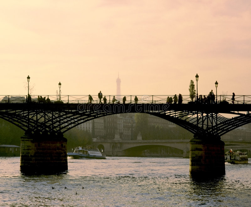 Pont Des Arts Paris Stock Photos