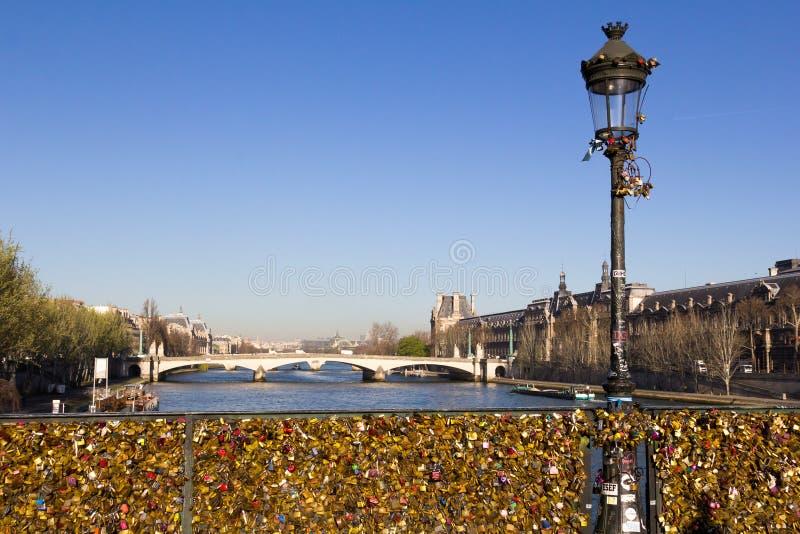 Pont des wieża eifla i sztuki obraz stock