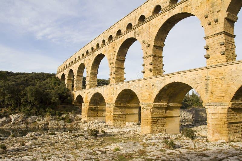 Pont du加尔省 免版税库存照片