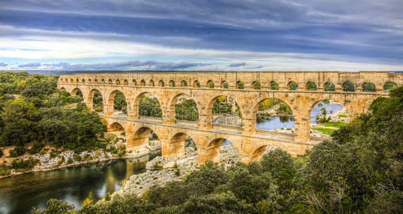 Pont Du Гар стоковое фото