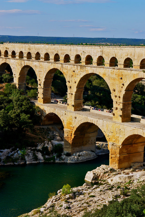 pont du Франции gard мост-водовода стоковые изображения rf