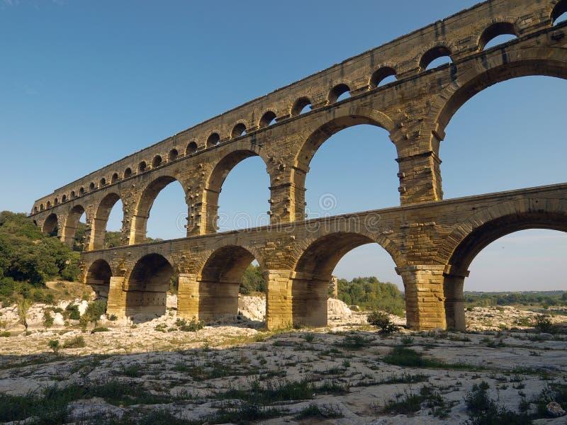 pont du Франции gard стоковая фотография rf