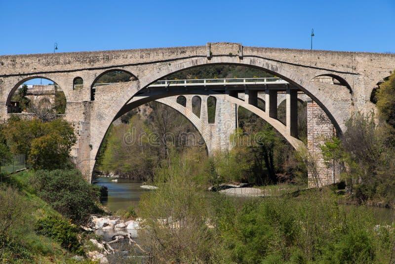 Pont du Diable在Ceret 库存照片