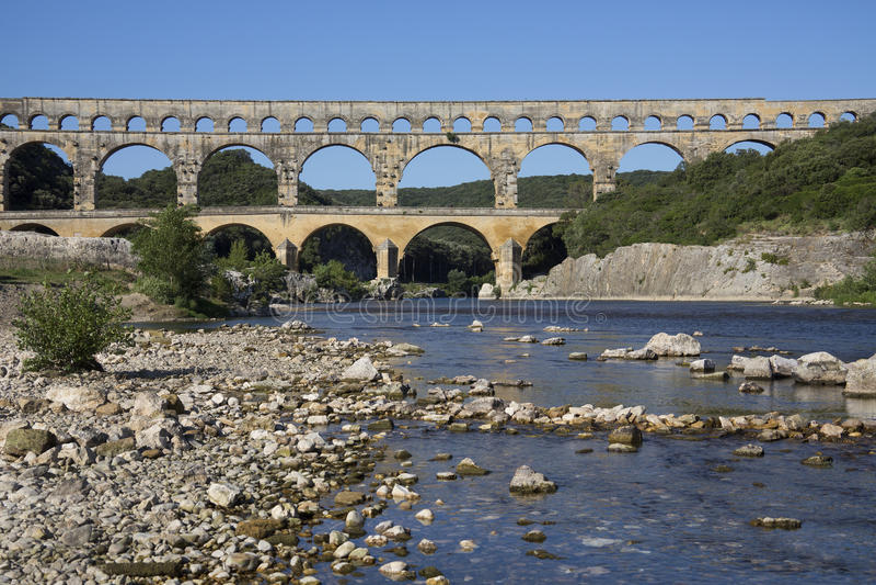 Pont du Gard - νότος της Γαλλίας στοκ εικόνες