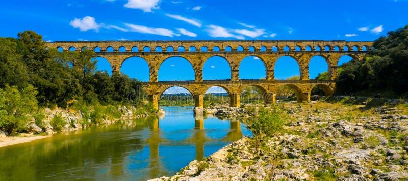 pont du gard стоковое изображение rf