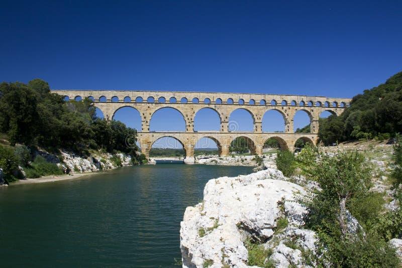 Pont du Gard stock photography