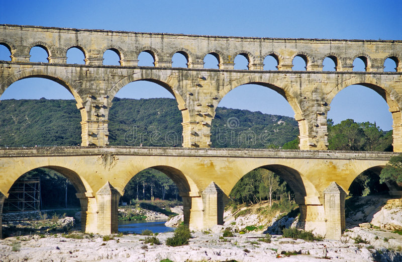 Download Pont du Gard stock photo. Image of ruins, france, arches - 1080216