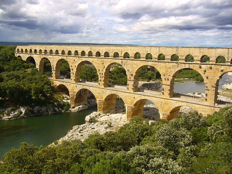 Download Pont du Gard stock image. Image of beautyful, cloudy - 25658833