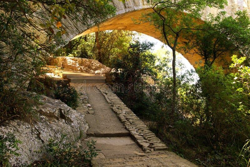 Pont du gard royaltyfri bild