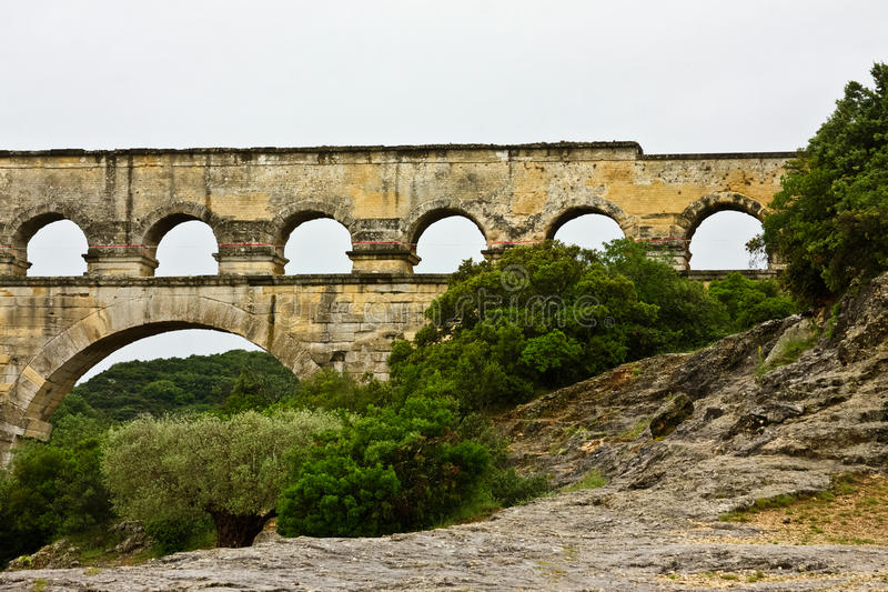 Download Pont du Gard stock photo. Image of historical, gard, aqueduct - 26989024
