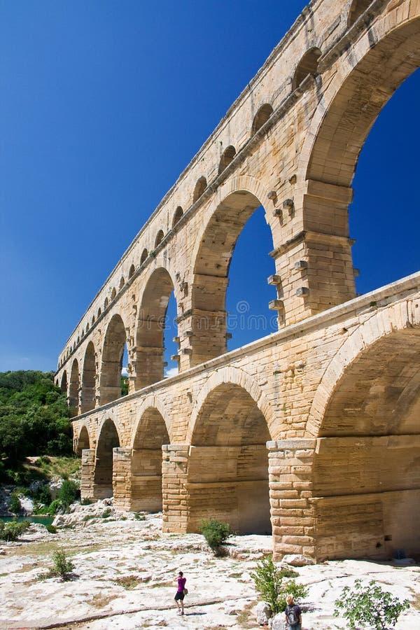 Pont du Gard fotografering för bildbyråer