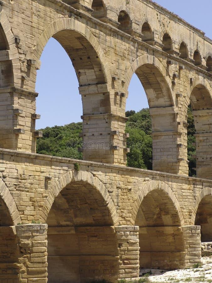 Pont du Gard imagem de stock royalty free