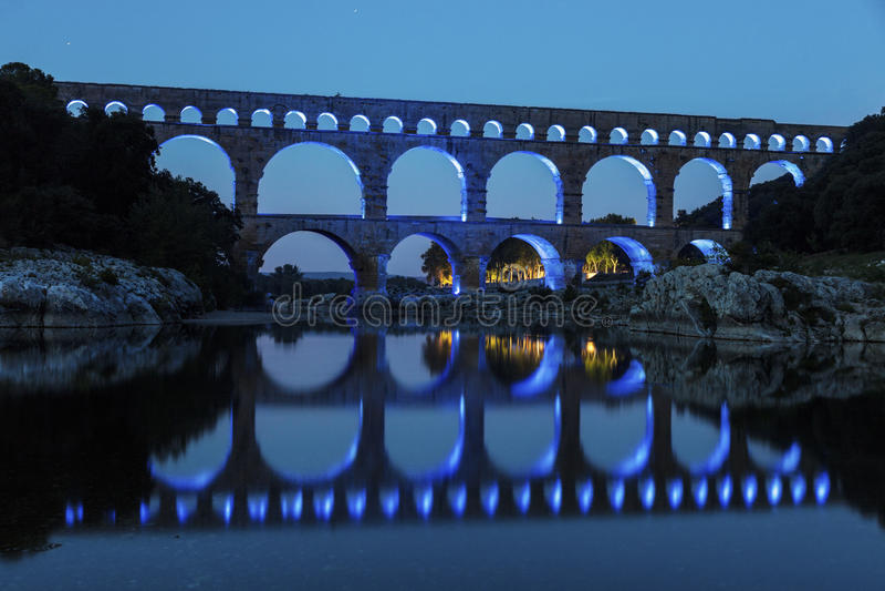 Pont du Gard fotos de archivo