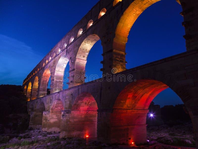 pont du gard стоковое фото rf