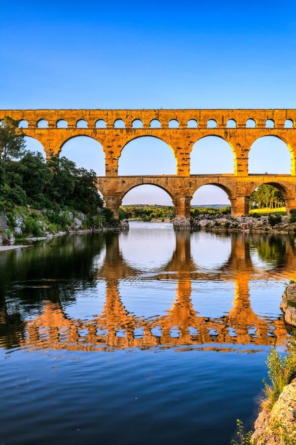 pont du gard стоковое фото