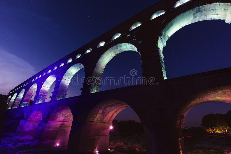 pont du gard стоковая фотография rf