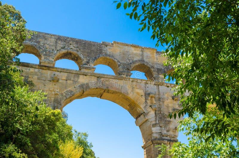Pont DU Gard lizenzfreie stockbilder