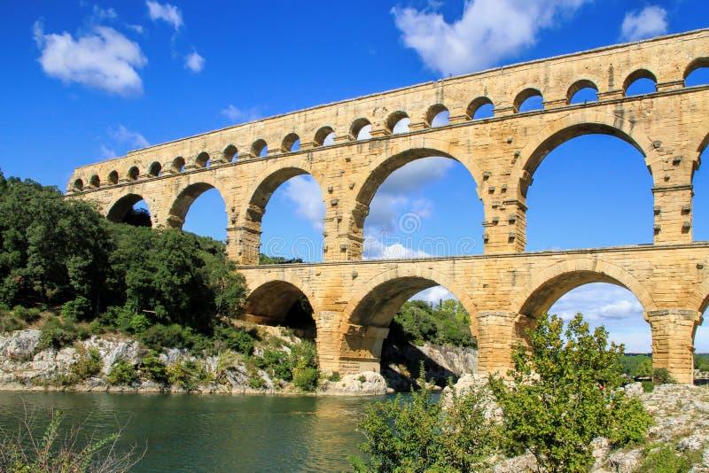 Pont du Gard, al sur de Francia fotografía de archivo