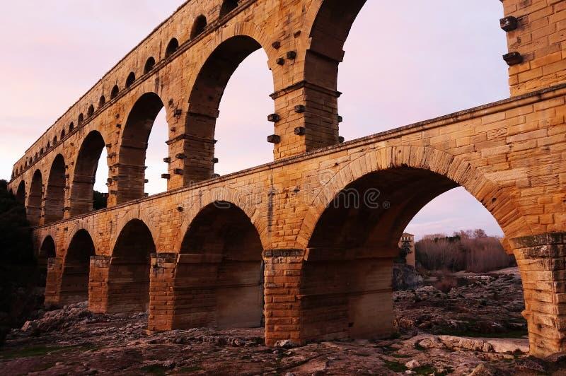 Pont du Gard blisko Nimes w Południowym Francja zdjęcie stock