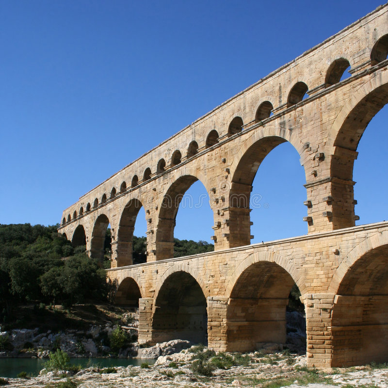 Download Pont du Gard France stock photo. Image of sightseeing - 4011130