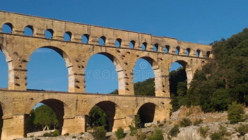 Pont du Gard Francia fotos de archivo libres de regalías