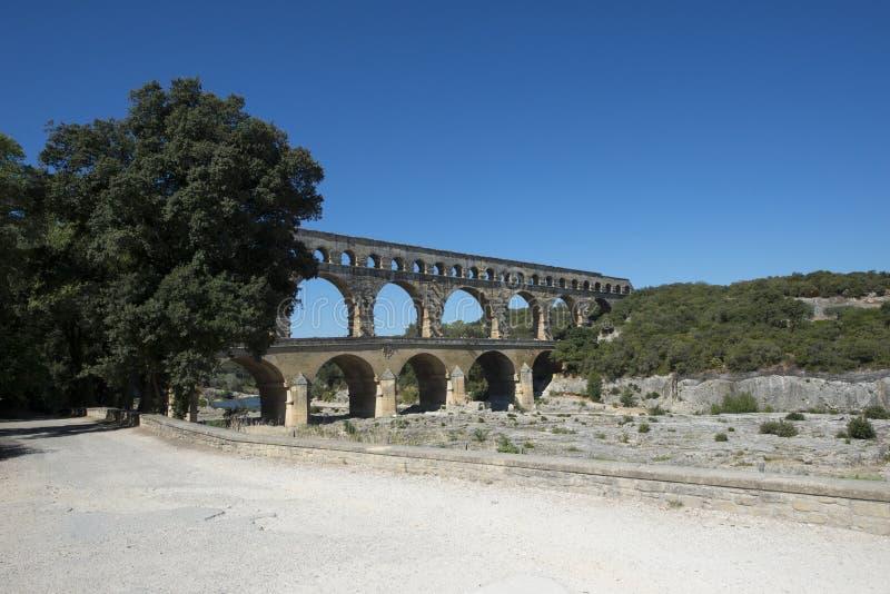 Pont du Gard, Francia imágenes de archivo libres de regalías