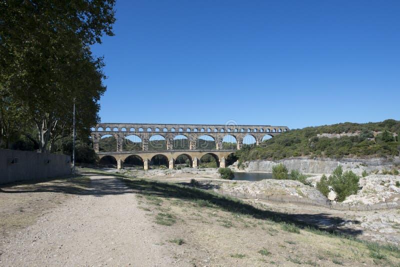 Pont du Gard, Francia imagen de archivo