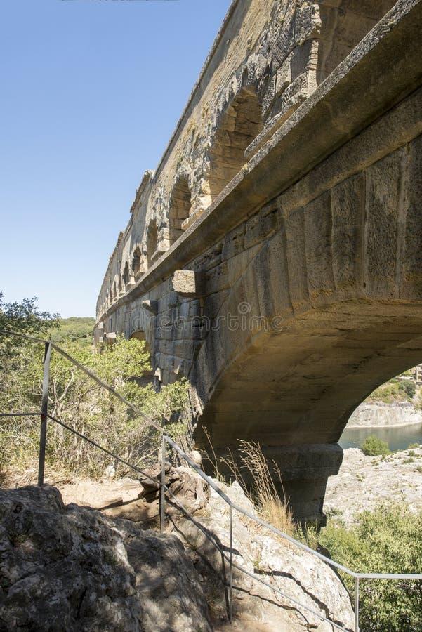 Pont du Gard, Francia imagen de archivo libre de regalías