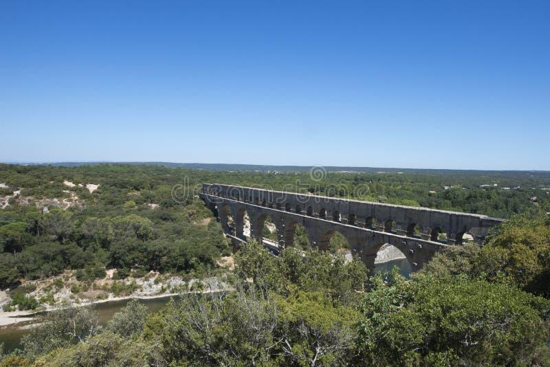 Pont du Gard, Francia foto de archivo